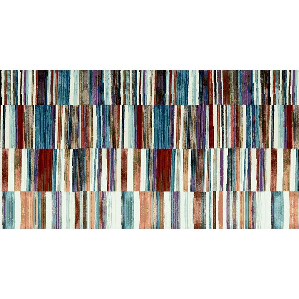 Nyack Red/Blue Indoor/Outdoor Area Rug by Ebern Designs