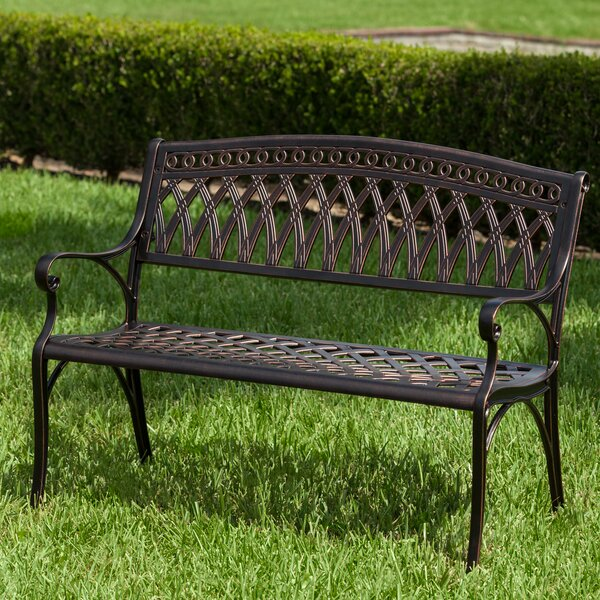 Simone Cast Aluminum Garden Bench by PatioSense