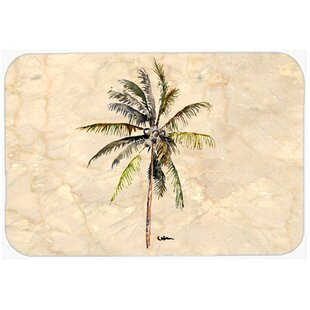 Read Reviews Palm Tree Kitchen/Bath Mat By Caroline's Treasures