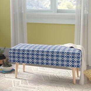 Affordable Price Valdez Mid Century Upholstered Storage Bench ByGeorge Oliver