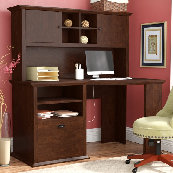 Ferrell L-Shape Computer Desk with Hutch by Three Posts