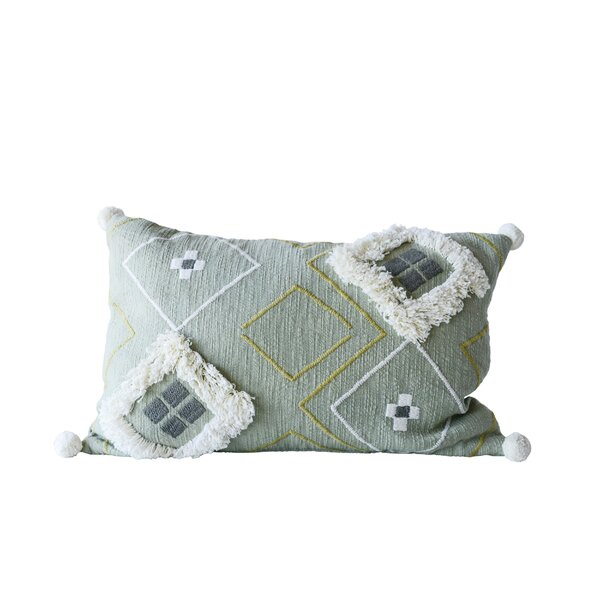 Eita Cotton Lumbar Pillow by Bungalow Rose