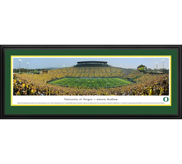 NCAA Oregon, University of - 50 Yard Day by James Blakeway Framed Photographic Print by Blakeway Worldwide Panoramas, Inc