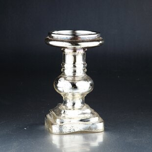 Glass Candlestick by Diamond Star Glass