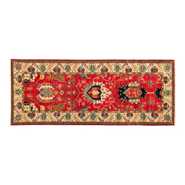 One-of-a-Kind Eclectic Vivid Hand-Knotted Red Area Rug by Darya Rugs