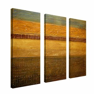 Earth Layers by Michelle Calkins 3 Piece Wrapped Photographic Print on Canvas Set by Trademark Fine Art