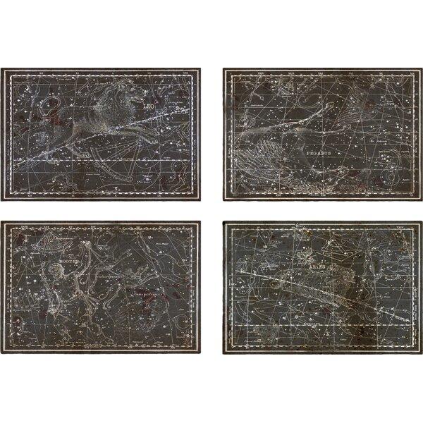 Celestial Map XVI Century 4 Piece Graphic Art on Wrapped Canvas Set by Trent Austin Design