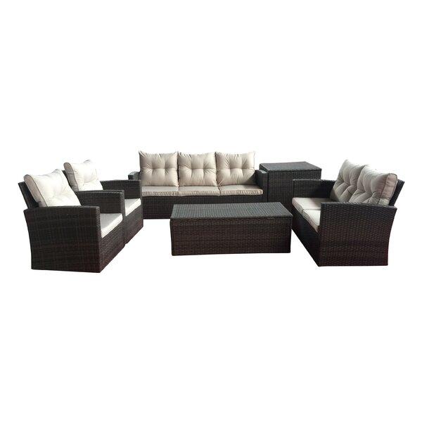 Carlene 6 Piece Sofa Set with Cushions by Beachcrest Home