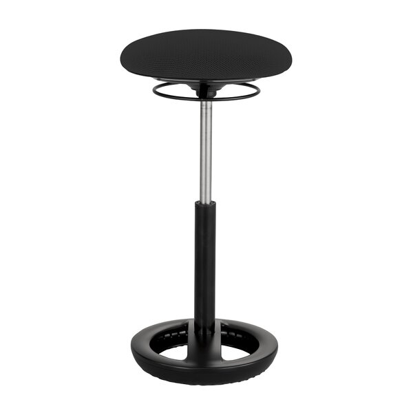 Zelazny Active Height Adjustable Industrial Stool by Latitude Run