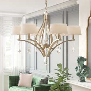 Reviews March 6-Light Shaded Chandelier By House of Hampton