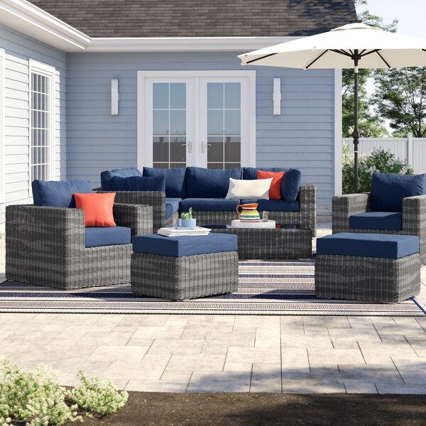 Keiran 10 Piece Sunbrella Sectional Set with Cushions Brayden Studio BRSU4132