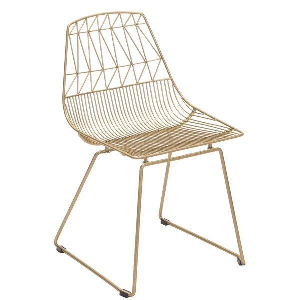 Dining Chair Gold (Set of 2) (Set of 2) by Orren Ellis Orren Ellis