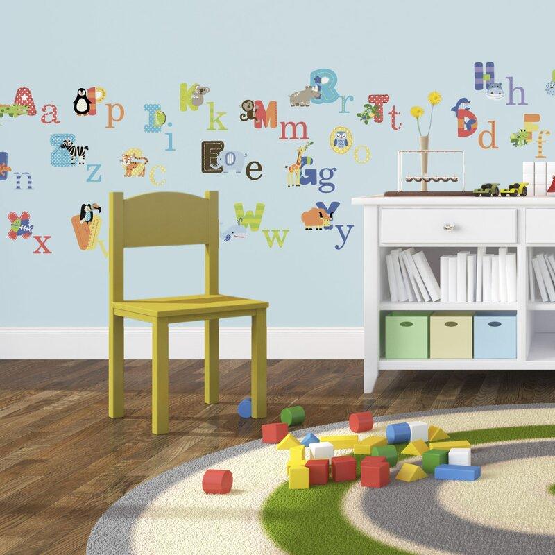 Animal Alphabet Nursery Wall Decal