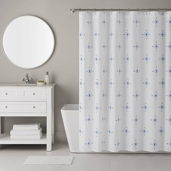 13 Piece Compass Shower Curtain Set by IZOD