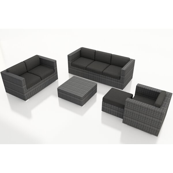 Hobbs 5 Piece Sunbrella Sofa Set with Cushions by Rosecliff Heights