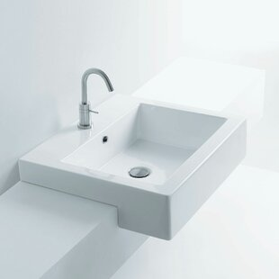 Look for Maui Premium Ceramic Rectangular Vessel Bathroom Sink with Overflow By Pacific Collection