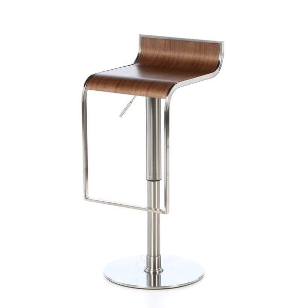 Bannerdown Contemporary Adjustable Height Swivel Bar Stool by Orren Ellis