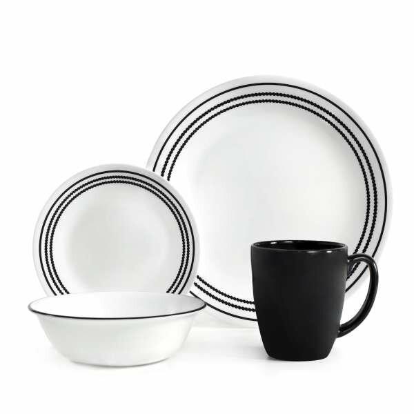 Livingware 16 Piece Dinnerware Set, Service for 4 by Corelle