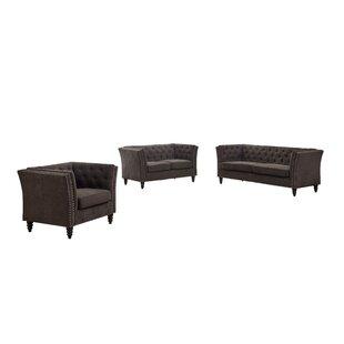 Burtt 3 Piece Standard Living Room Set by Winston Porter