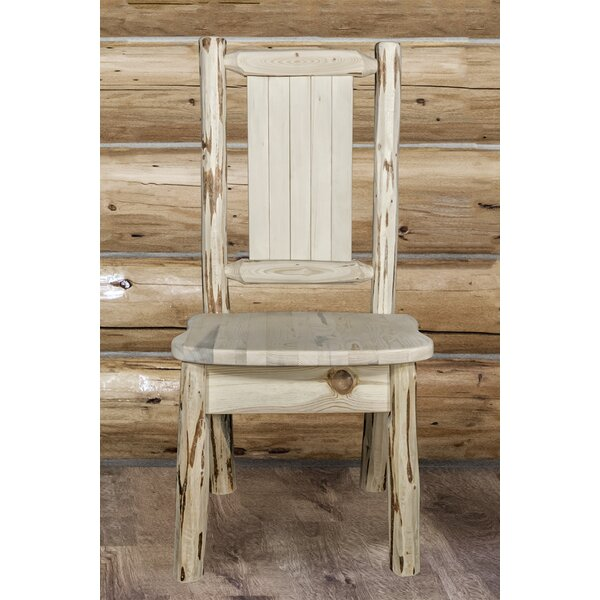 Tustin Rustic Solid Wood Dining Chair by Loon Peak