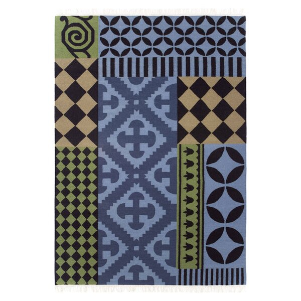 Kilim Siracusa Blue Ikat Area Rug by GAN RUGS