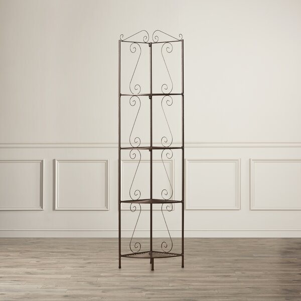 Yeatman Four Tier Corner Unit Bookcase by Charlton Home