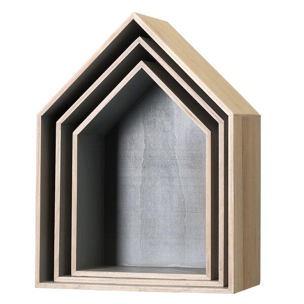 Ryne 3 Piece Wood Display House Shelf Set by Viv + Rae