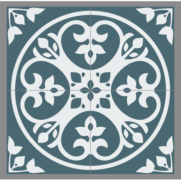 Gallery 8 x 8 Ceramic Field Tile in Olvera Dark Blue by Mulia Tile