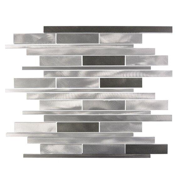 City Lights San Francisco Random Sized Aluminum Mosaic Tile in Glazed Silver by Abolos