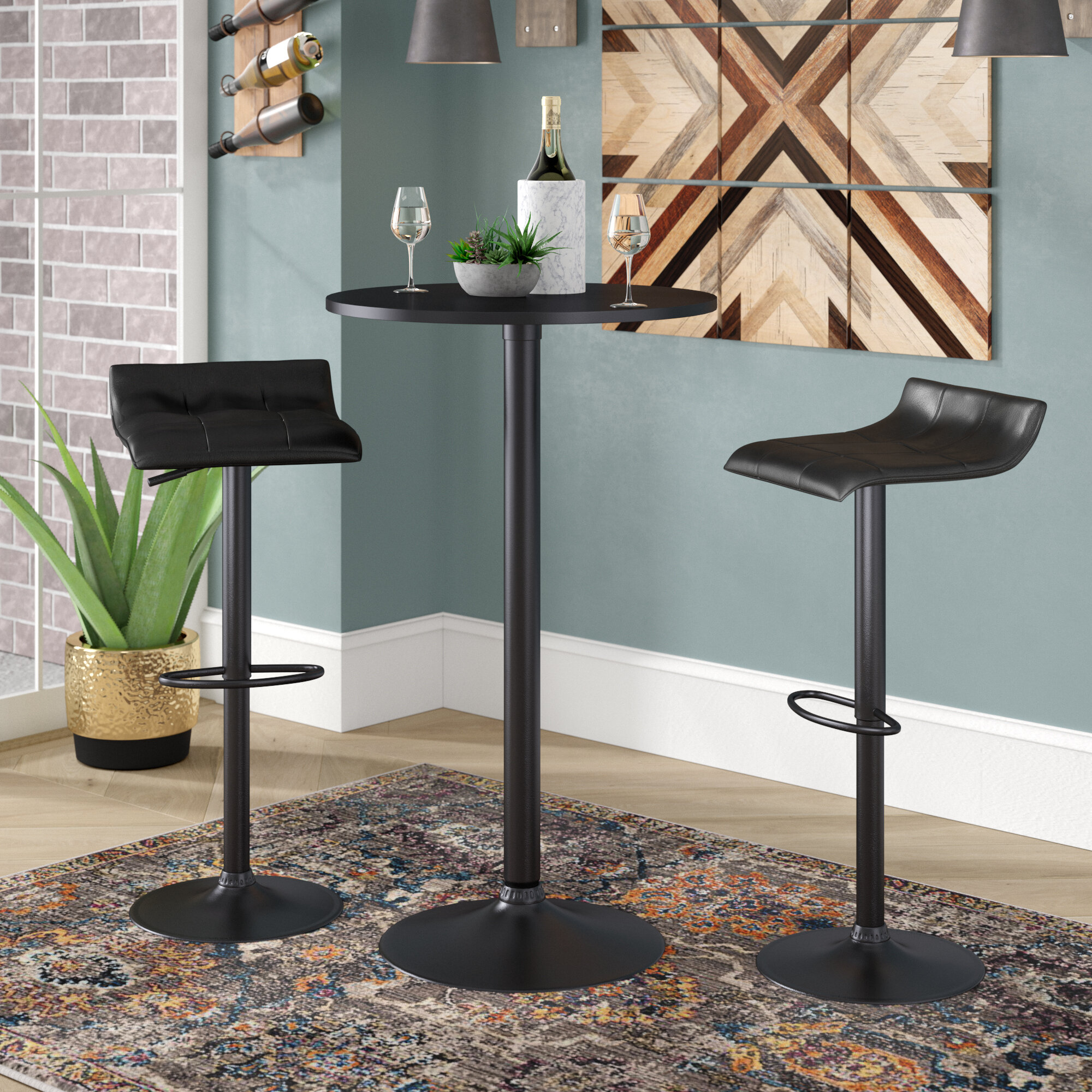 Trent Austin Design Yoder 3 Piece Round Pub Table Set & Reviews ...
