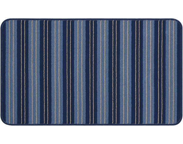 Naples Hand-Tufted Navy Area Rug by Breakwater Bay
