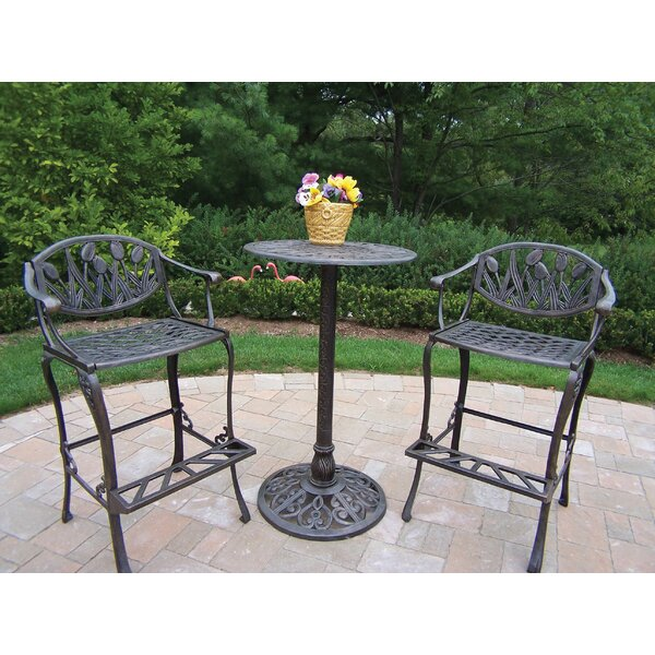 Farrior 3 Piece Bar Height Dining Set by Brayden Studio