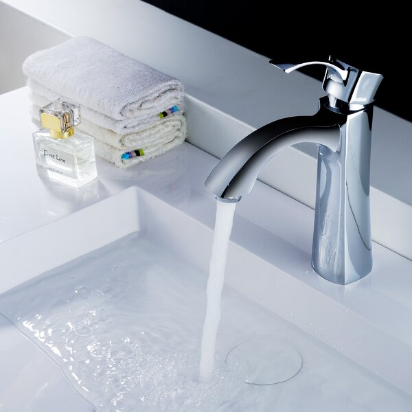 Rhythm Single Hole Bathroom Faucet with Drain Assembly by ANZZI