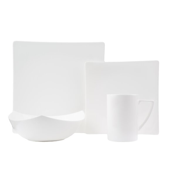 Extreme Bone China 16 Piece Dinnerware Set, Service for 4 by Red Vanilla