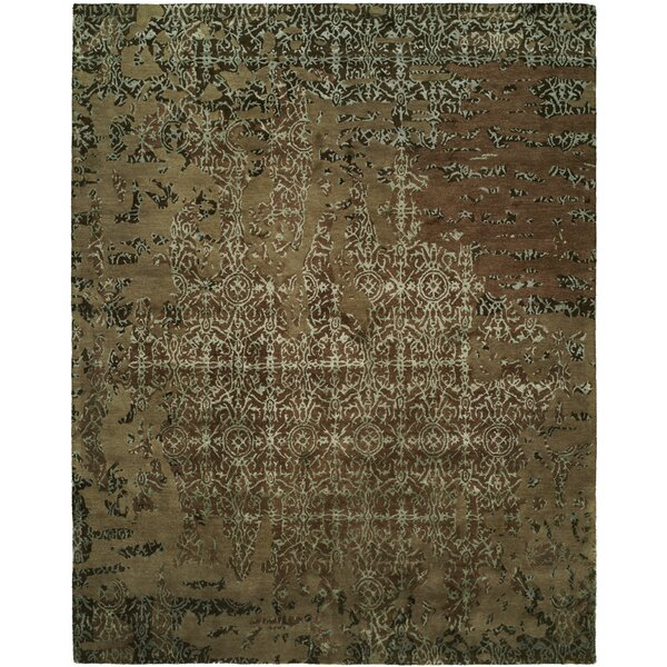 Dhuri Hand-Tufted Mocha Area Rug by Meridian Rugmakers