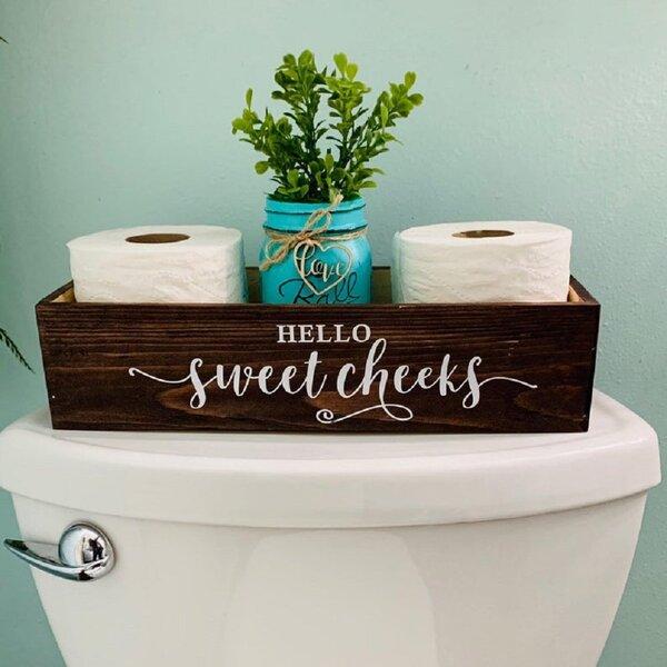 Carmelia 17 W x 6 H x 6 D Solid Wood Bathroom Storage Box