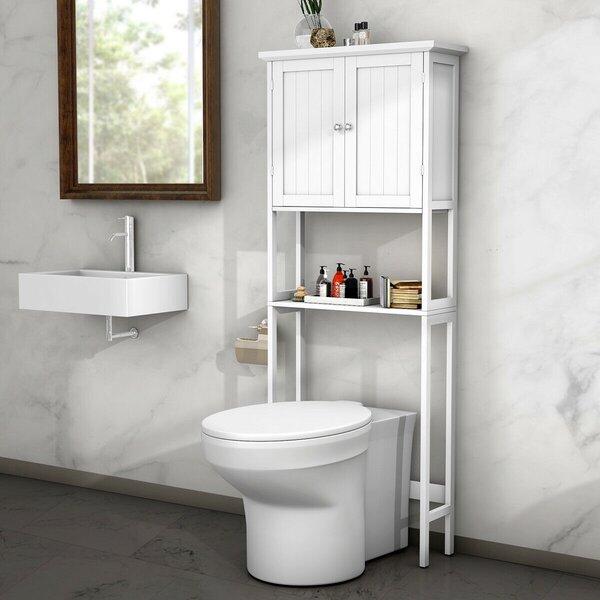 Helladius 27.5'' W x 68'' H x 9.5'' D Over-the-Toilet Storage