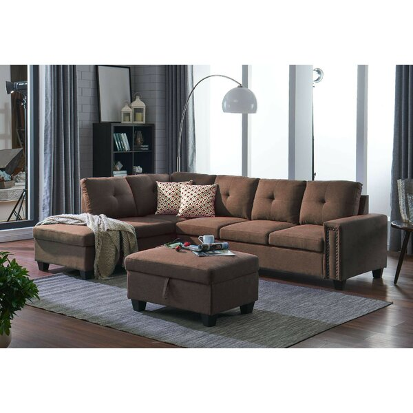 Juliann Sectional with Ottoman by Charlton Home