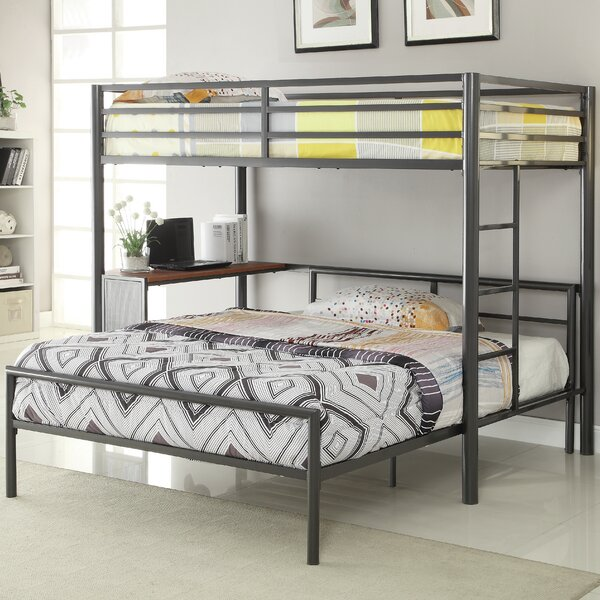 Nedra Twin Over Full L-Shaped Bunk Bed by Harriet Bee