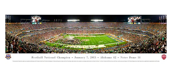 NCAA BCS Football Championship 2013 by Christopher Gjevre Photographic Print by Blakeway Worldwide Panoramas, Inc