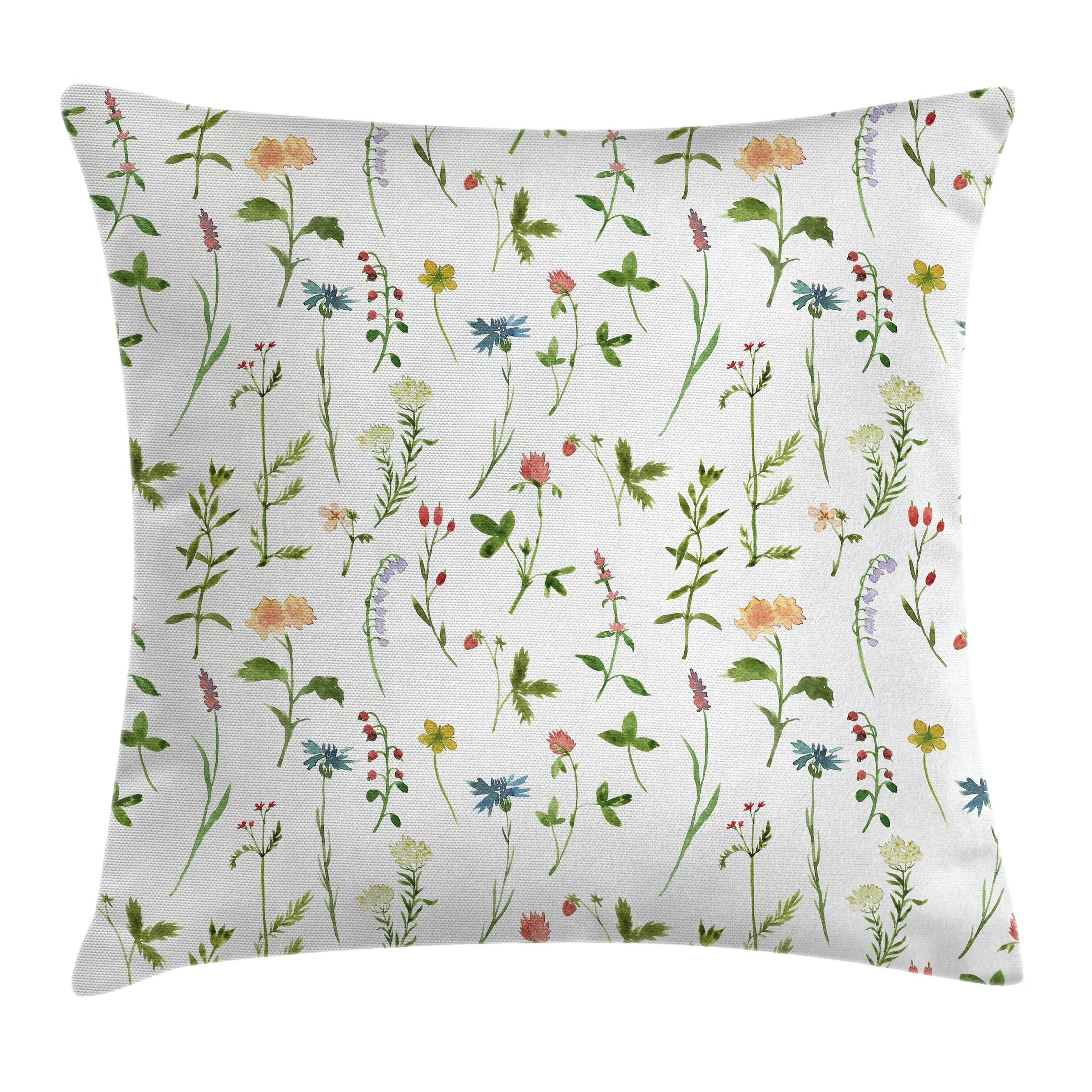 Kids Play Room Decorative Pillow Covers for Girls Lil Sis Floral Throw Cushion Case