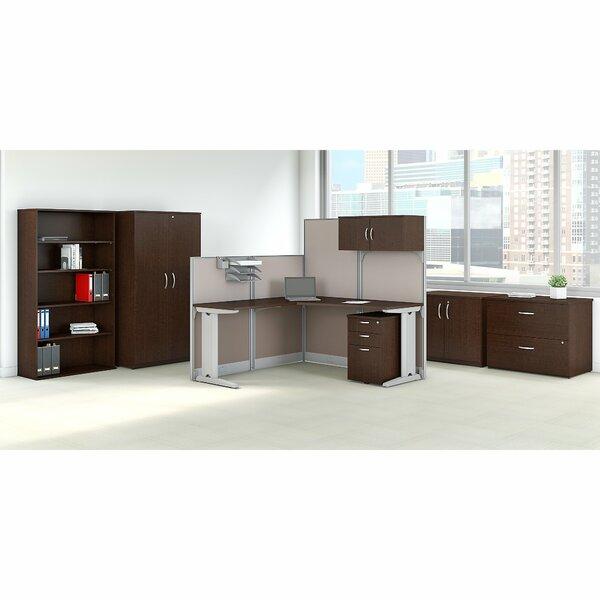 Cubicle Workstation 7 Piece L-Shape Desk Office Suite by Bush Business Furniture
