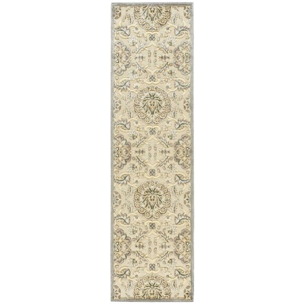 Talanna Power Loom Synthetic Ivory Indoor Area Rug by Ophelia & Co.