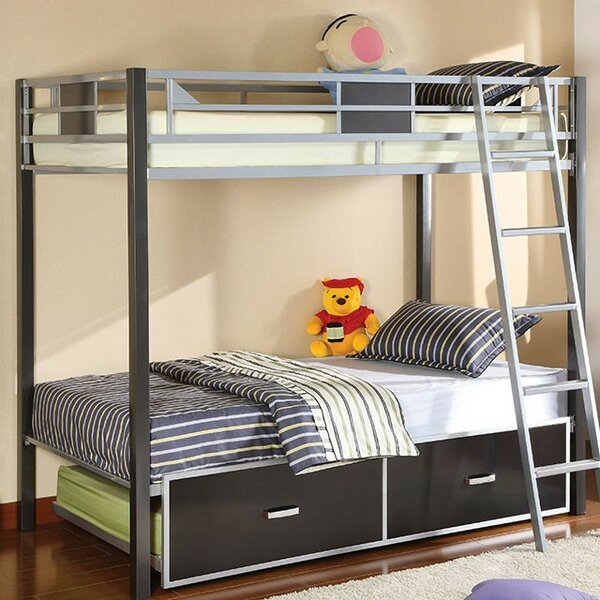Fanning Twin over Twin Bunk Bed by Harriet Bee