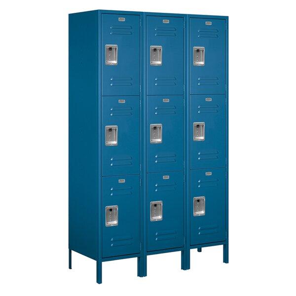 3 Tier 3 Wide Employee Locker by Salsbury Industries