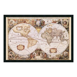 'Map Of the World' Framed Graphic Art by Astoria Grand