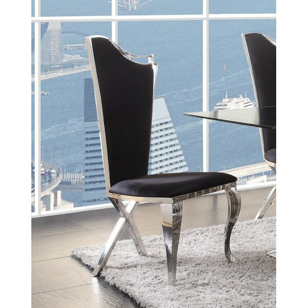 Araiza Upholstered Dining Chair (Set of 2) by Everly Quinn Everly Quinn