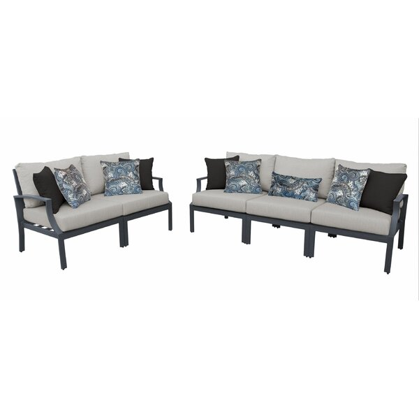 Benner Outdoor Aluminum 5 Piece Sectional Seating Group with Cushion by Ivy Bronx