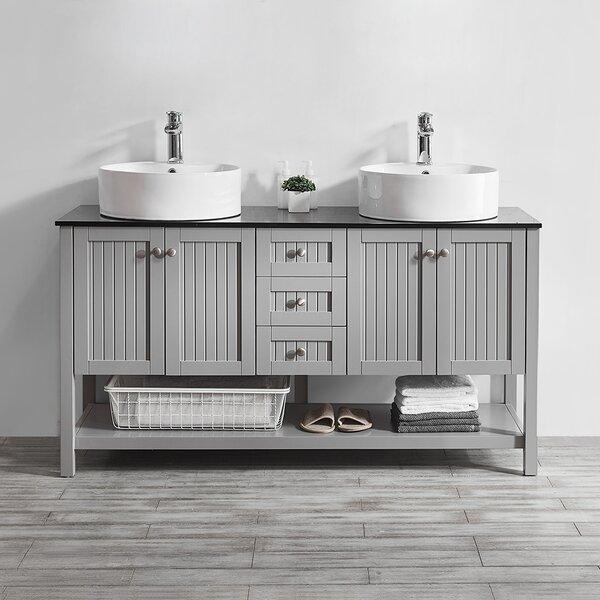 Nadler 60 Double Bathroom Vanity Set by Beachcrest Home