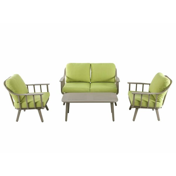 Burgher 4 Piece Sofa Seating Group with Cushions by George Oliver